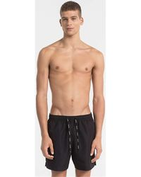 Calvin Klein Bañador KM0KM00170 MEDIUM DRAWSTRING - Negro