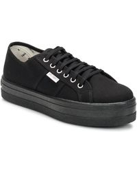 Victoria - Lage Sneakers Blucher Lona Plataforma - Lyst