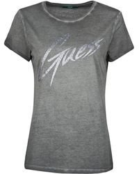 Guess T-Shirt Ss Cn Ivonne Tee - Nero