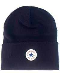 Converse - Tall Cuff Watchcap Knit Beanie - Navy Men's Beanie In Blue - Lyst