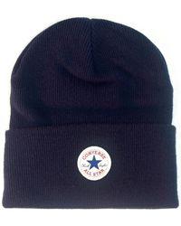 Converse - Tall Cuff Watchcap Knit Beanie - Navy Women's Beanie In Blue - Lyst
