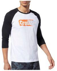 Reebok CrossFit Sticker Rip Raglan Tee - Multicolore