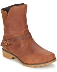 Teva - De La Vina Low Women's Mid Boots In Brown - Lyst