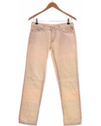 Replay Jean Slim Femme 38 - T2 - M Jeans - Blanc