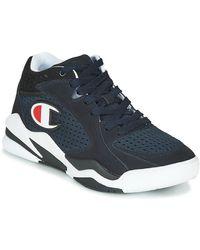 Champion Sneakers Zone Mid Mesh - Blauw