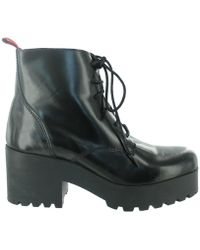Marta Jonsson - Lace Up Ankle Boot With A Zip Women's Low Ankle Boots In Black - Lyst