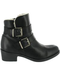 Marta Jonsson - Ankle Boot With Buckles Women's Low Ankle Boots In Black - Lyst