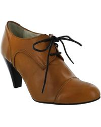 Marta Jonsson - Women's High Heeled Lace Up Shoe Women's Low Boots In Brown - Lyst