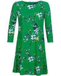 Lauren by Ralph Lauren FLORAL PRINT-3/4 SLEEVE-JERSEY DAY DRESS femmes Robe en vert