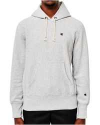 Champion - Classic Reverse Weave Hoodie Grey Men's Sweatshirt In Grey - Lyst