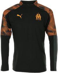 PUMA T-shirt OM 1/4 Zip Training Top - Noir