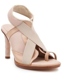 Lacoste 7-25fsw0000a75 Heel Shoes Sandals - Natural