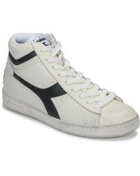 Diadora Hoge Sneakers Game L High Waxed - Wit
