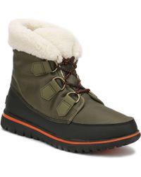 Sorel Cosy Carnival Nylon And Fleece Boots - Green