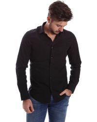 Gas | 151133 Shirt Man Men's Long Sleeved Shirt In Black | Lyst