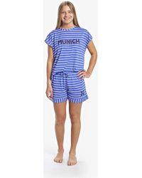 Munich Pyjama Femme à manches courtes Décontracté Pyjamas / Chemises de nuit - Bleu