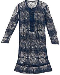 Antik Batik Korte Jurk Leane - Blauw