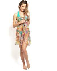 Pain De Sucre - , Multi-positions Sarong, Delire Print - Enza Women's Tunic Dress In Brown - Lyst