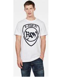 G-Star RAW T-shirt D15616 B353 GRAPHIC 10 - Blanc