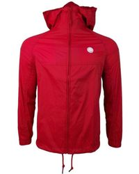 f5df959d1e2 Pretty Green - Lightweight Zip Up Hdd Jacket Men s In Red - Lyst
