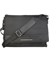 Trussardi - 71b987t_nero Men's Briefcase In Black - Lyst