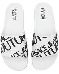 Versace Jeans Couture Claquettes - Blanc
