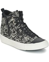 Converse - Chuck Taylor All Star Selene Women's Shoes (high-top Trainers) In Black - Lyst