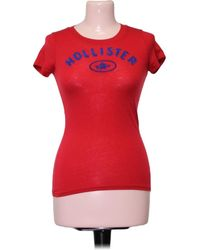 Hollister Top manches courtes - XS Blouses - Rouge