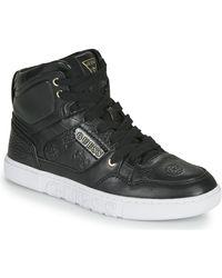 Guess Hoge Sneakers Justise - Zwart