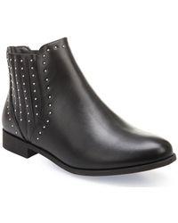 La Modeuse - Low boots noires à clous Bottines - Lyst