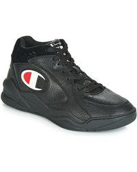 Champion Baskets montantes Zone Mid en cuir - Noir