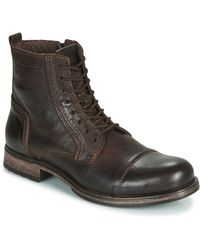 Jack & Jones Laarzen Jfw Russel Leather - Bruin