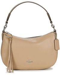COACH Handtas Sutton Crossbody - Naturel
