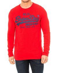 Superdry T-shirt T-shirt à manches longues Homme - Rouge