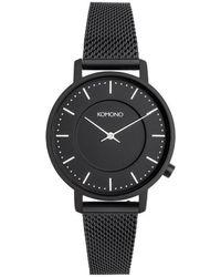 Komono Horloge Harlow Mesh - Zwart