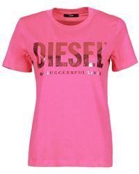 DIESEL Camiseta 00SYW8-0CATJ-3BG - Rosa
