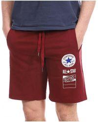Converse 10020066-A01 Short - Rouge
