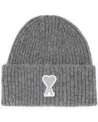 AMI Cappellino in lana grigia Bonnet - Gris
