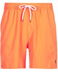 Polo Ralph Lauren Bañador MAILLOT SHORT DE BAIN EN NYLON RECYCLE, CORDON DE SERRAGE ET POC - Naranja