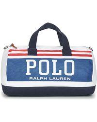 Polo Ralph Lauren Reistas Cotton Canvas-big Polo Dfl-dfl-ctn - Blauw