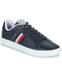 Tommy Hilfiger Lage Sneakers Essential Leather Cupsole - Blauw