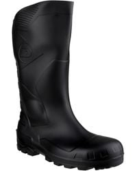 Dunlop W 219a Devon Wellington Boots - Black