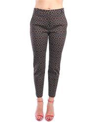 Pinko 1G15KP 8186 Classiques Femme Noir blanc Pantalons de costume - Multicolore