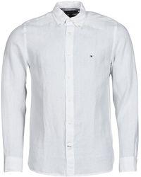 Tommy Hilfiger PIGMENT DYED LINEN SHIRT Chemise - Blanc
