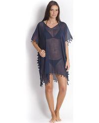 Seafolly - Kaftan Amnesia In Cotton, , Indigo Blue - Amnesia Women's Tunic Dress In Blue - Lyst