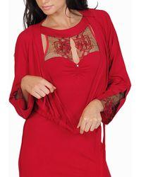 Lisca Pyjama's / Nachthemden Bolero Jasje Koningin Rose - Rood