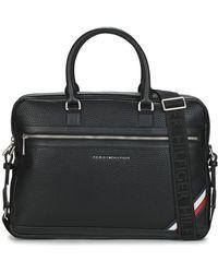 Tommy Hilfiger Aktetassen Th Downtown Computer Bag - Zwart