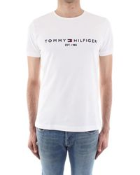 Tommy Hilfiger MW0MW11465 hommes T-shirt en blanc