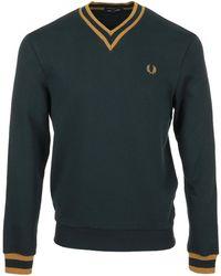 Fred Perry Trui Tipped Loopback Sweatshirt - Blauw