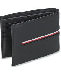 Tommy Hilfiger Portemonnee Th Downtown Extra Cc And Coin - Zwart